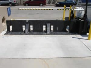 Active vehicle barriers regulate vehicles for entry