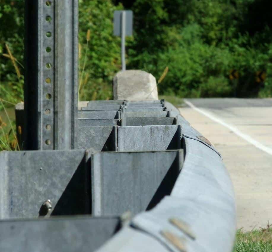 Guardrail on road